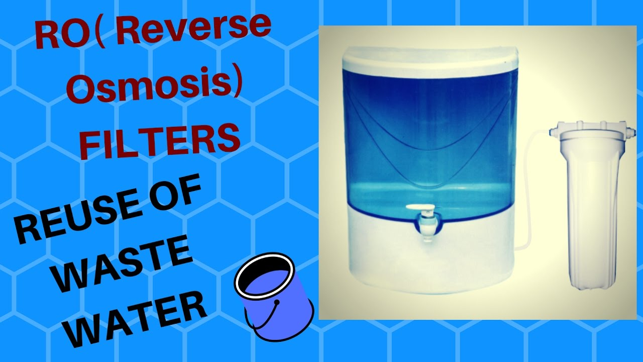 6 Easy Ways to Use the Waste Water from RO Water Purifiers, how can we use waste water from RO, Use of waste water from RO